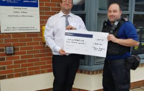 Lancing FC Receive Local Police Grant