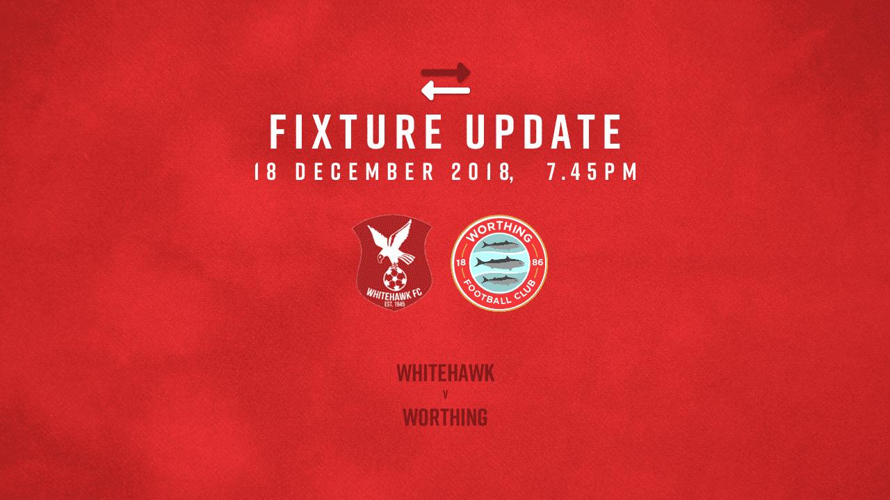 Read the full article - Fixture Update: Whitehawk [A] – League
