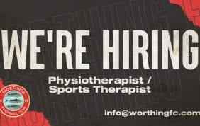 HIRING: Physiotherapist / Sports Therapist
