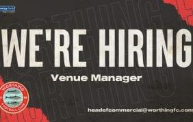 Vacancy: Venue Manager