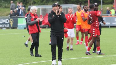 Read the full article - Hinshelwood pleased with win over Bowers & Pitsea